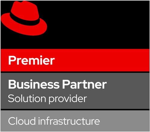 Logo Red Hat Premier Business Partner - Cloud infrastructure