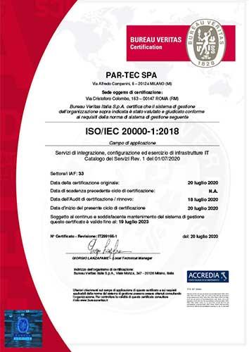 Certificazione ISO 20000-1