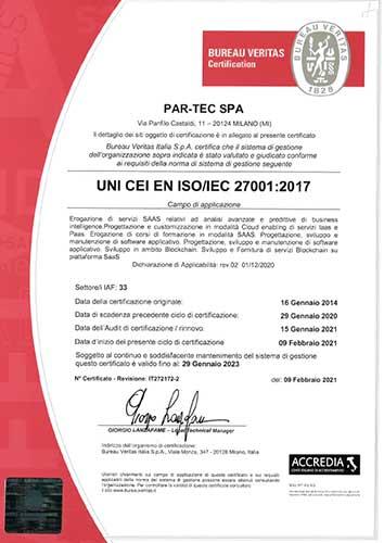 Certificazione ISO 27001-27017-27018