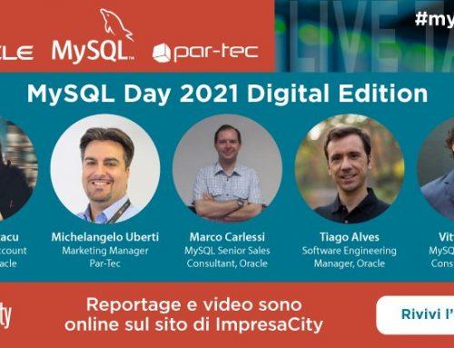 MySQL Day 2021 Digital Edition: Par-Tec e Oracle vi ringraziano per la partecipazione