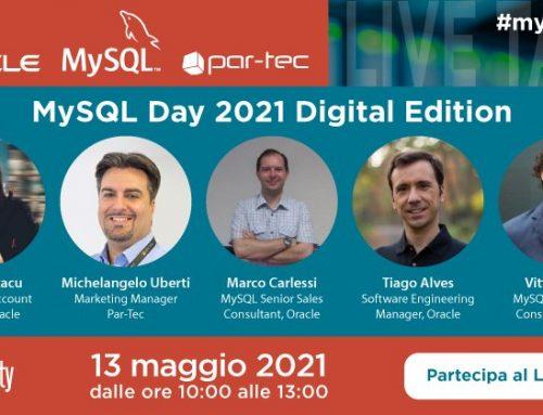 Par-Tec e Oracle vi invitano al MySQL Day 2021 Digital Edition